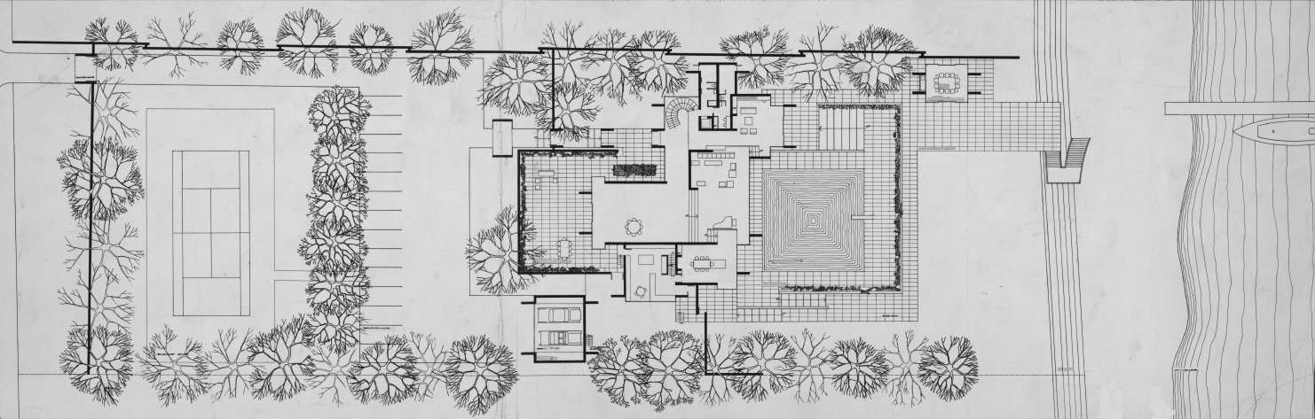 Bostwick residence, Palm Beach, Florida. First Floor Plan.