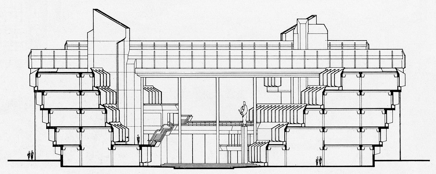 Syracuse City Hall, Syracuse, New York.  Building Section.