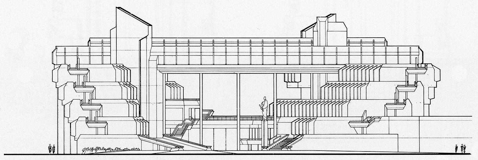 Syracuse City Hall, Syracuse, New York.  Building Elevation.