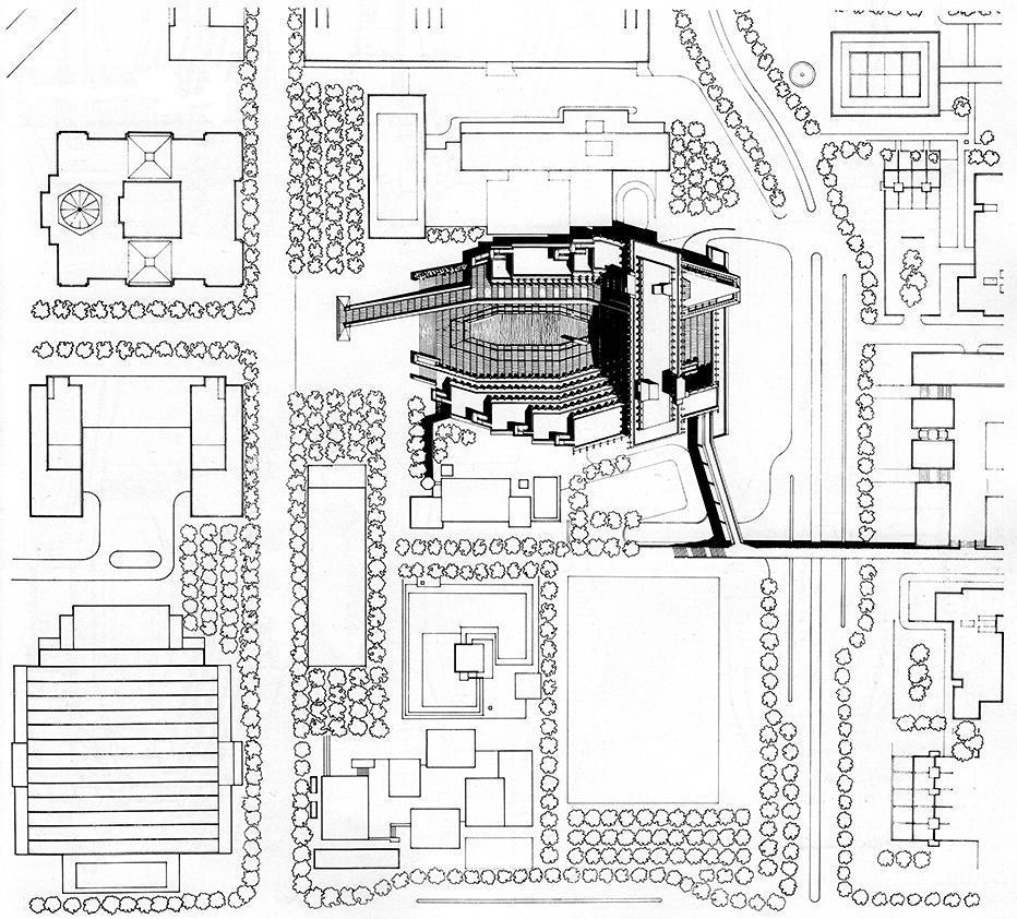 Syracuse City Hall, Syracuse, New York.  Rendered Site Plan.