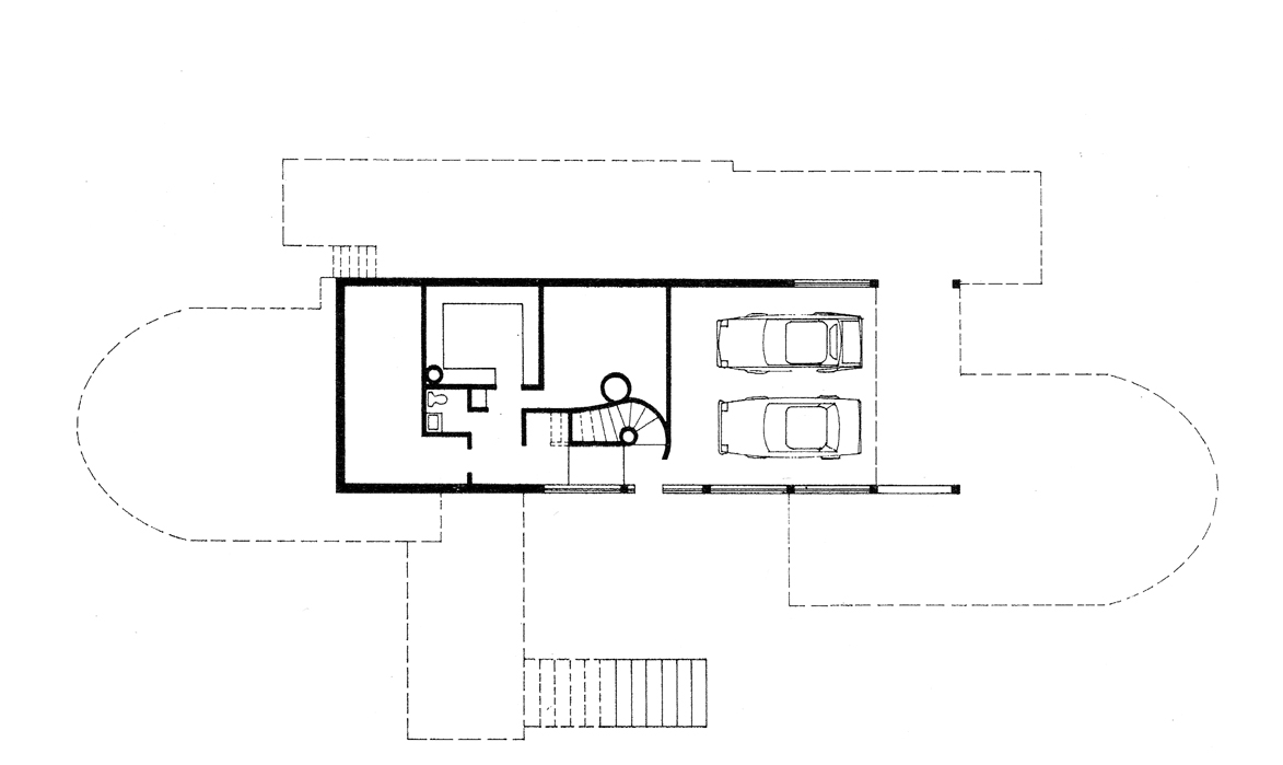 Dr. and Mrs. John M. Shuey Residence, Bloomfield Hills, Michigan.  Basement Floor Plan.