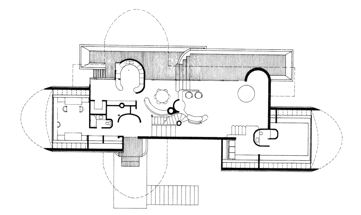 Dr. and Mrs. John M. Shuey Residence, Bloomfield Hills, Michigan. First Floor Plan.