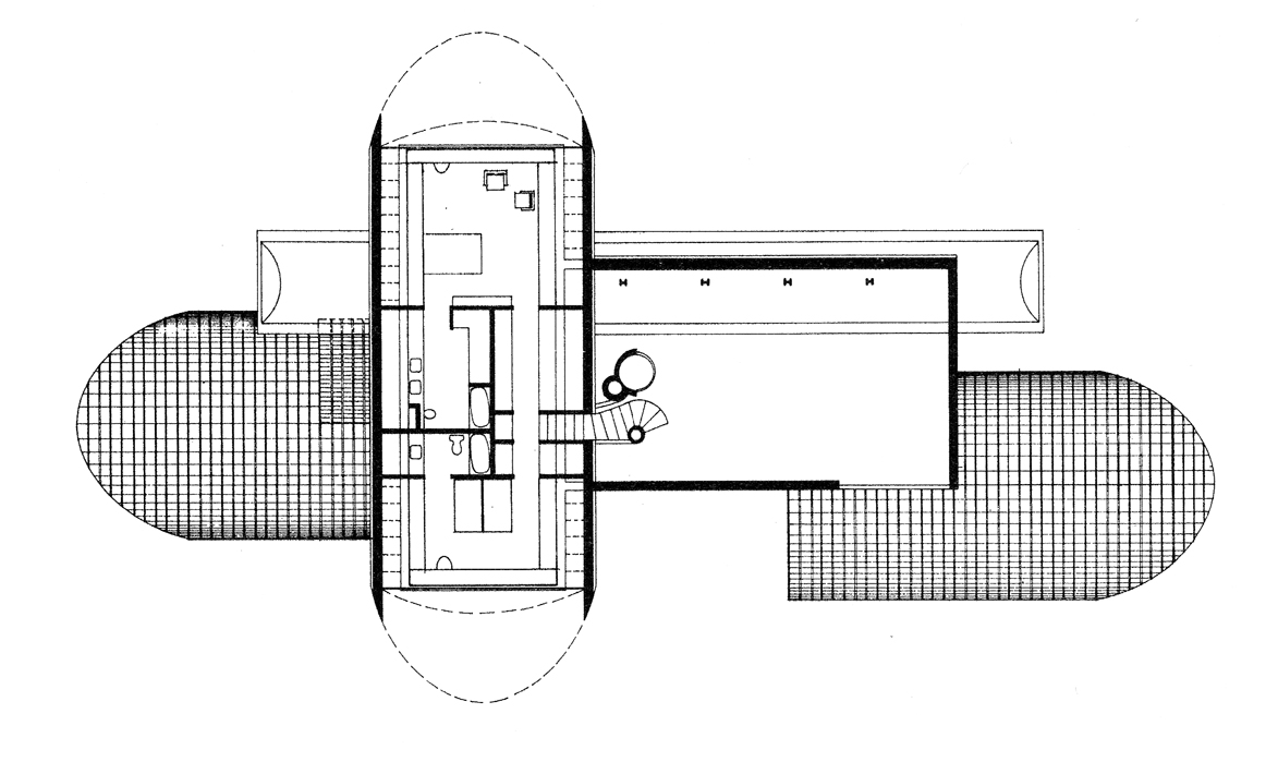 Dr. and Mrs. John M. Shuey Residence, Bloomfield Hills, Michigan. Second Floor Plan.