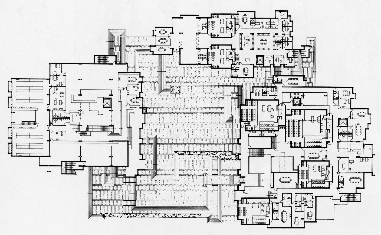 Orange County Government Center, Goshen, New York. Ground Floor Plan.