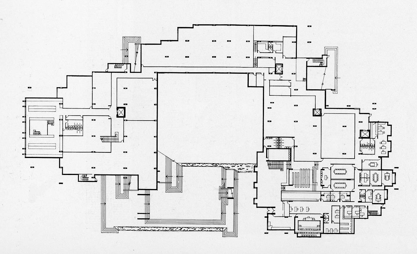 Orange County Government Center, Goshen, New York. Lower Ground Floor Plan.