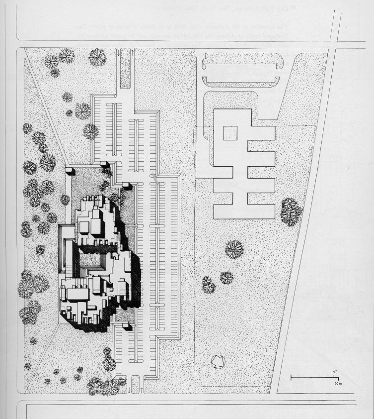 Orange County Government Center, Goshen, New York. Site Plan Rendering.