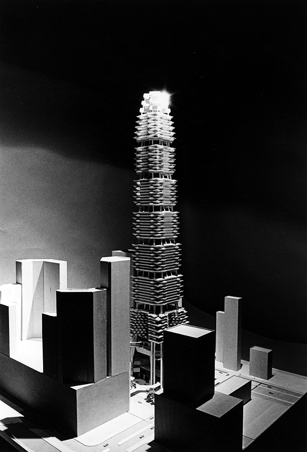 Sino Tower (Harbour Road Project), Hong Kong, China. Photograph of model.