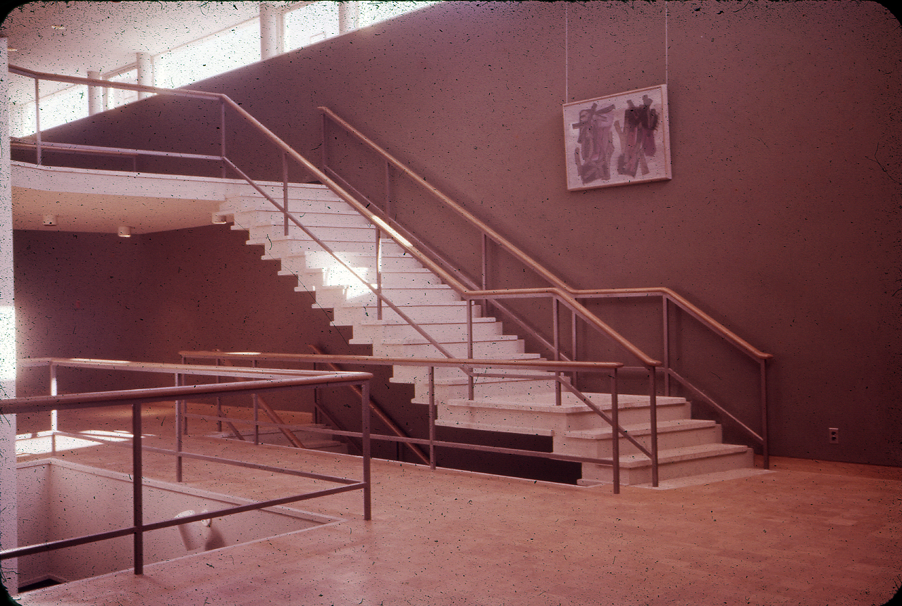 Mary Cooper Jewett Arts Center, Wellesley College, Wellesley, Massachusetts. Photograph of Building Interior. 1955.