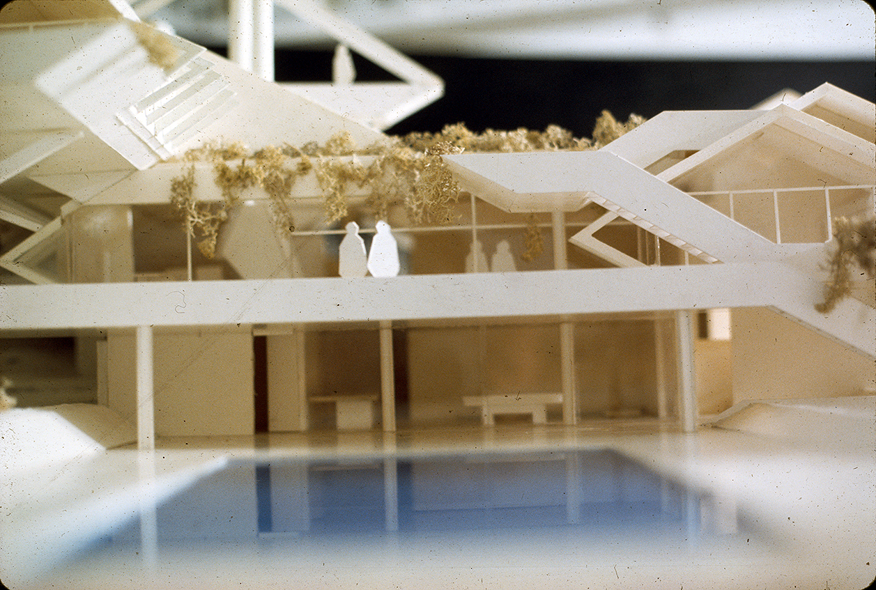 Deane residence, Great Neck, New York. Project Model.  Photo taken in 1970.