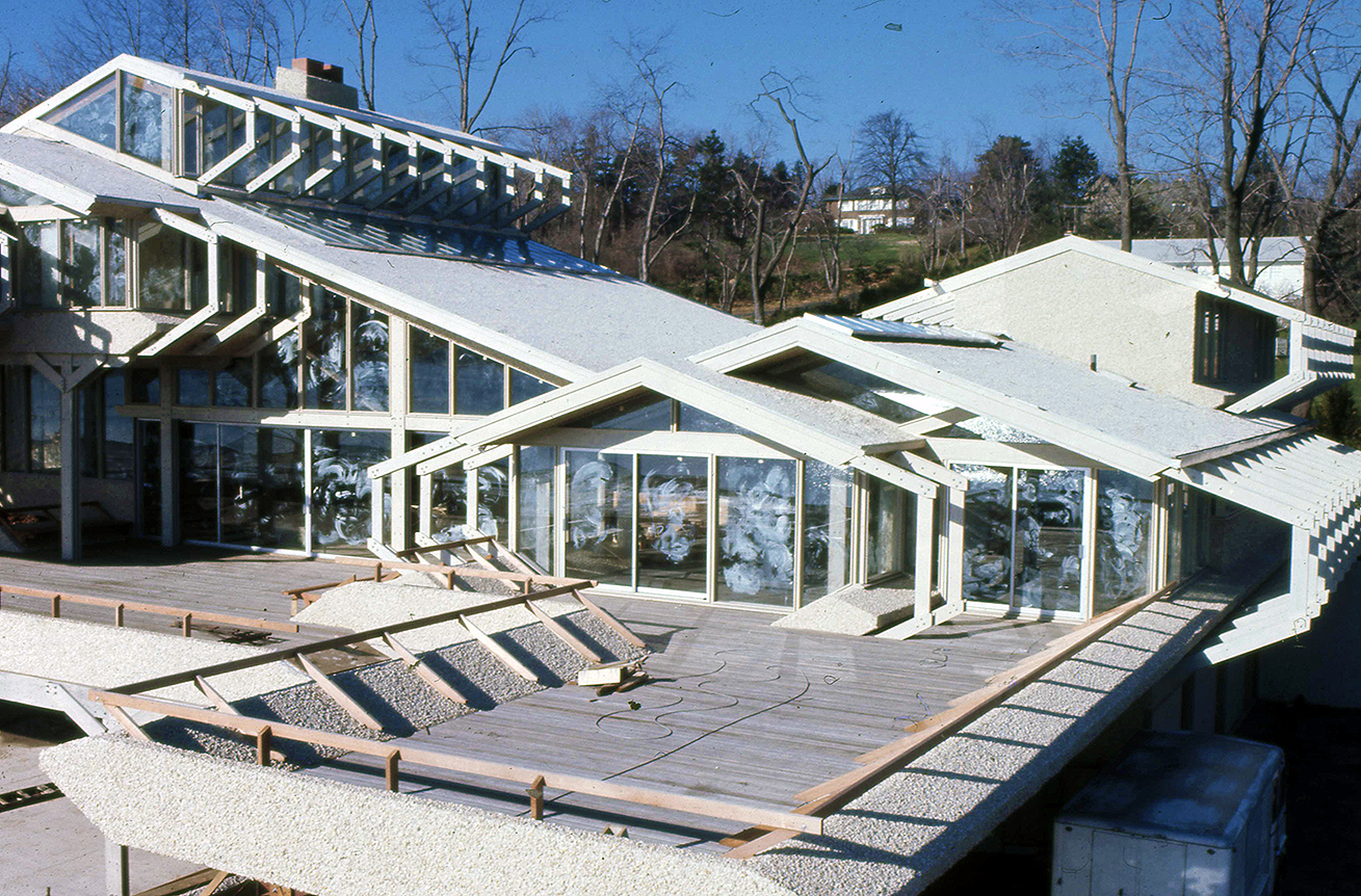Deane residence, Great Neck, New York. Construction Photo.