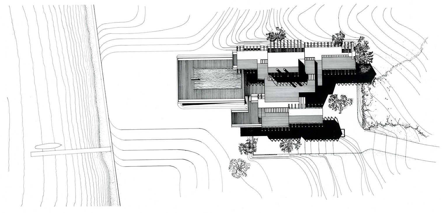 Deane residence, Great Neck, New York. Site Plan Rendering.