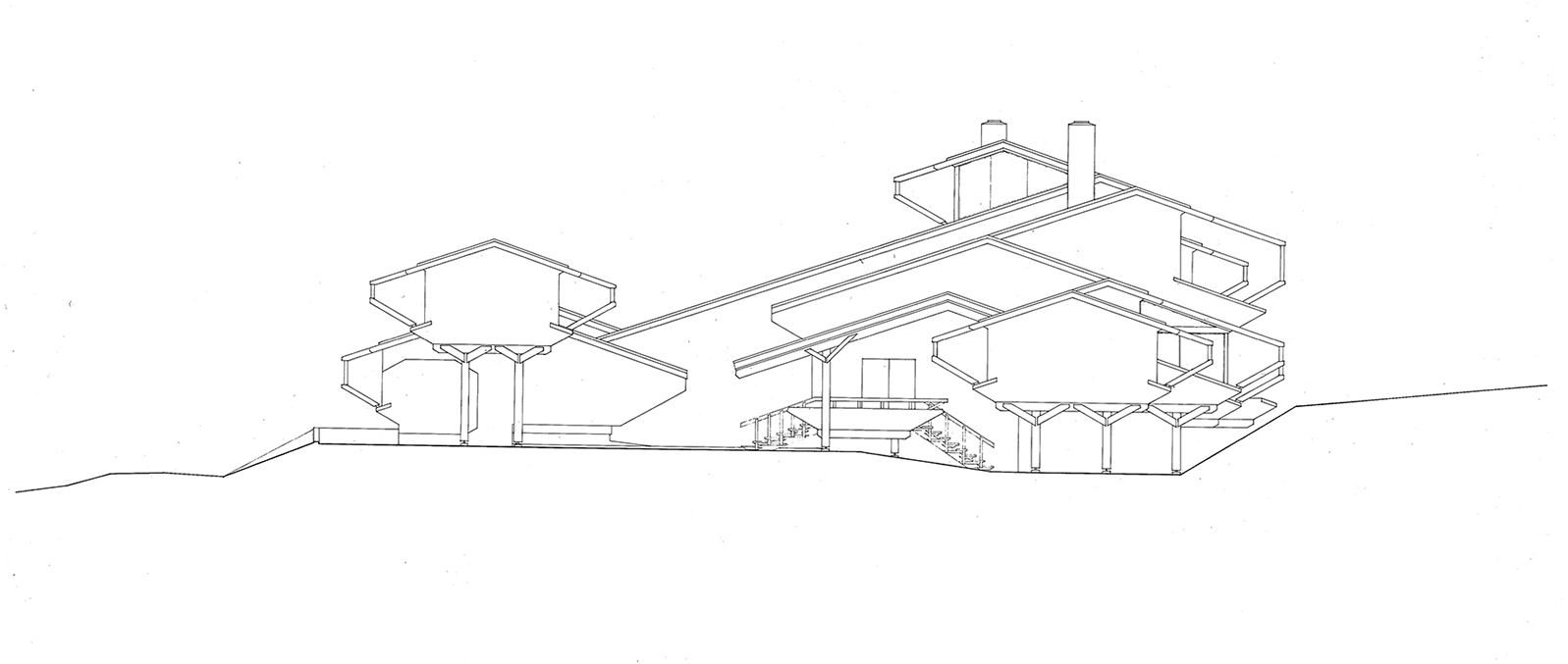 Deane residence, Great Neck, New York. Building Elevation.