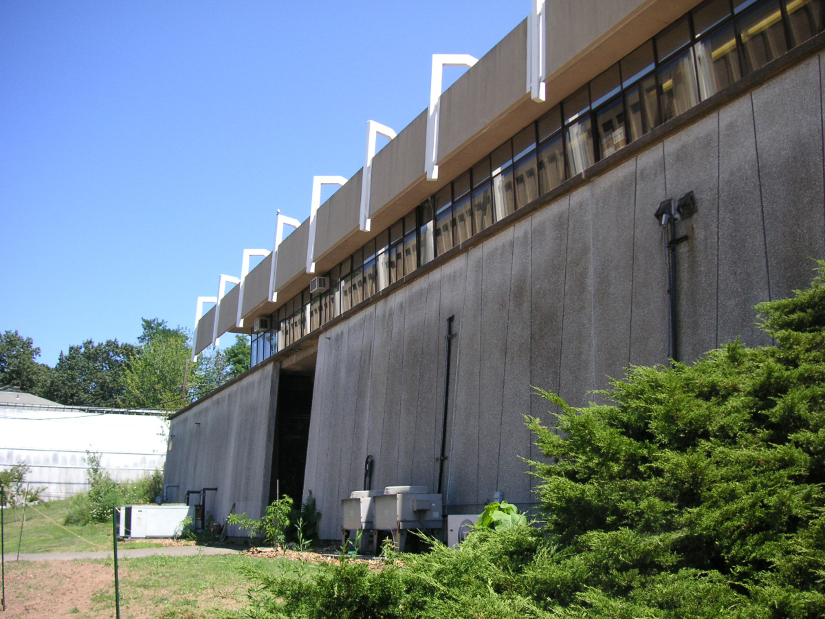 Greeley Memorial Laboratory, Yale University, New Haven, Connecticut. Building Exterior.  Photo taken August 11, 2006.