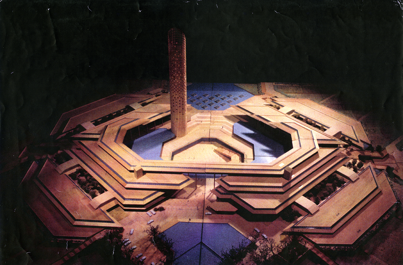Electronic Data Systems headquarters, Dallas, Texas. Photo of Project Model.