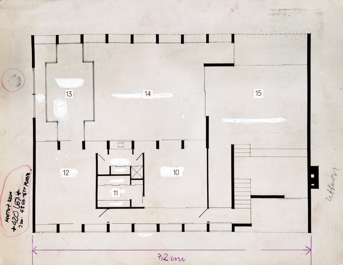Deering residence, Casey Key, Florida. Second Floor Plan.