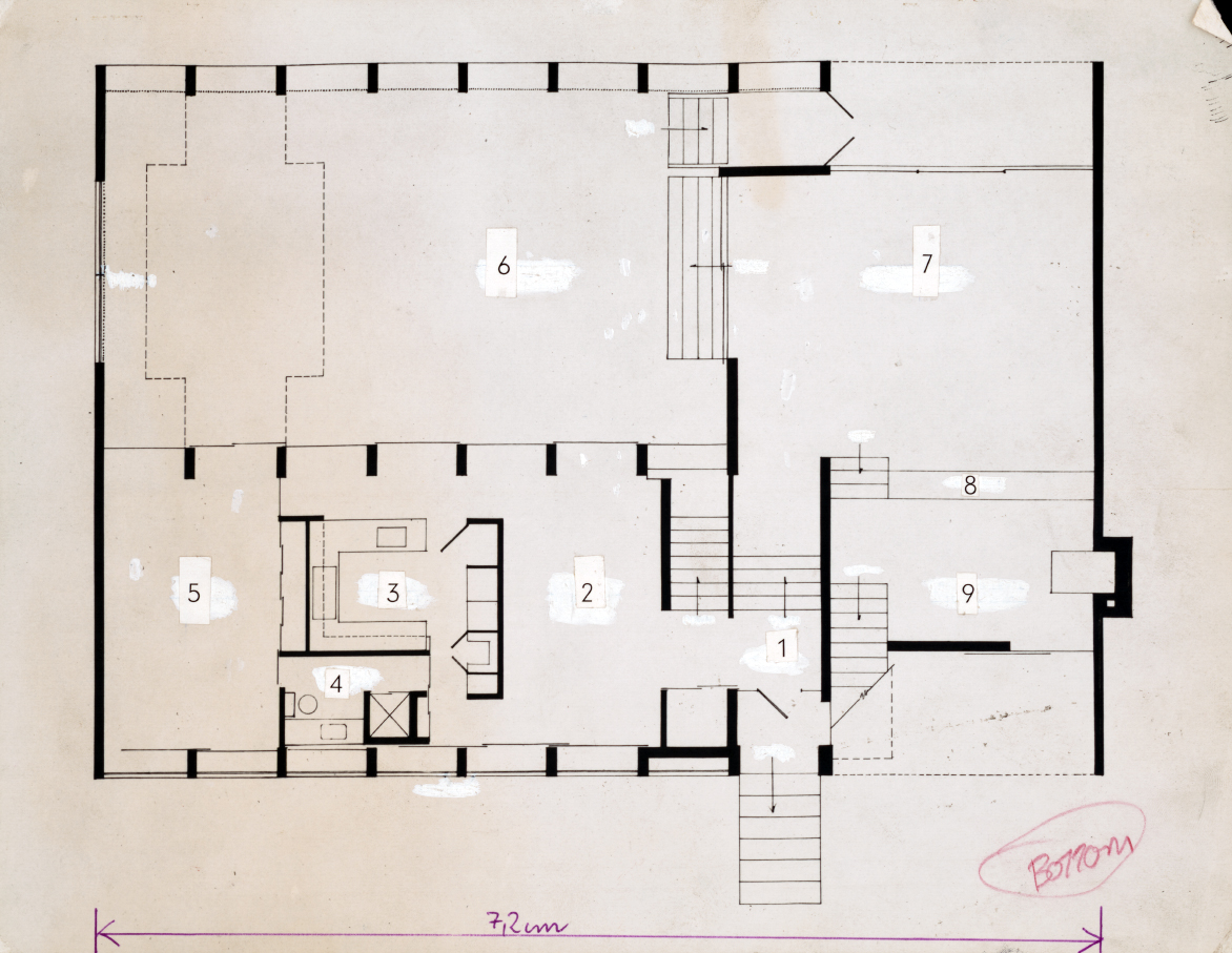 Deering residence, Casey Key, Florida. First Floor Plan.
