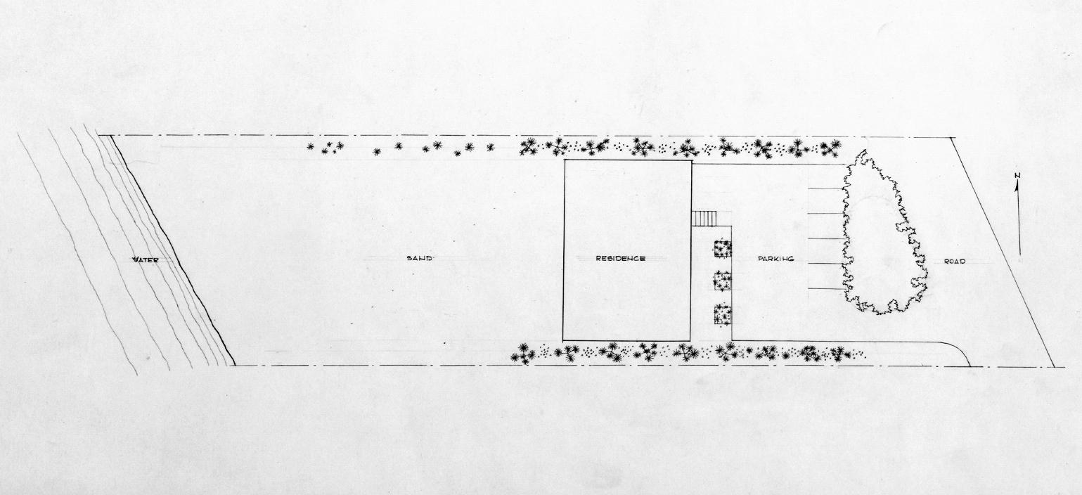 Deering residence, Casey Key, Florida. Site Plan.