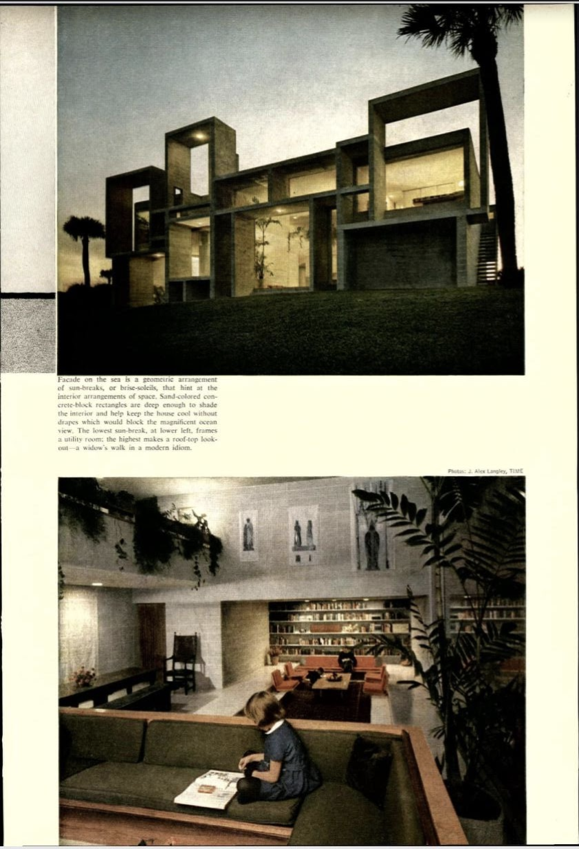 House and Home's article on contemporary examples of residential design had a section on the Milam residence---and it included some atmospheric views.  Image courtesy of: US Modernist Library of 20th century architectural journals.