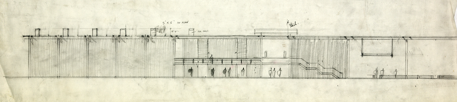 Riverview High School, Sarasota, Florida. Elevation Sketch.