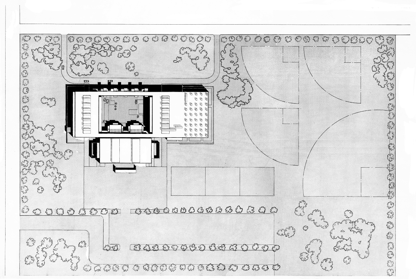 Riverview High School, Sarasota, Florida. Site Plan Rendering.