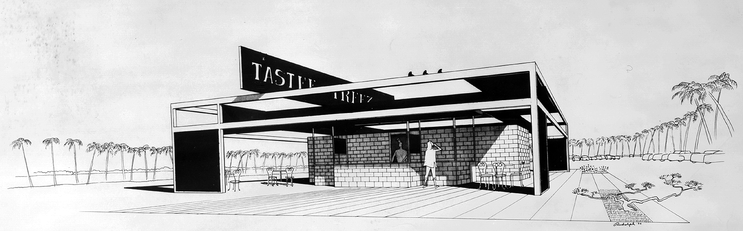 Tastee Freez. Perspective Rendering. 1954.