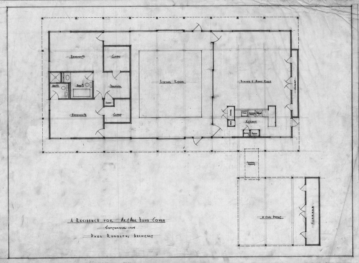 Cohen residence, Siesta Key, Florida. Floor Plan.