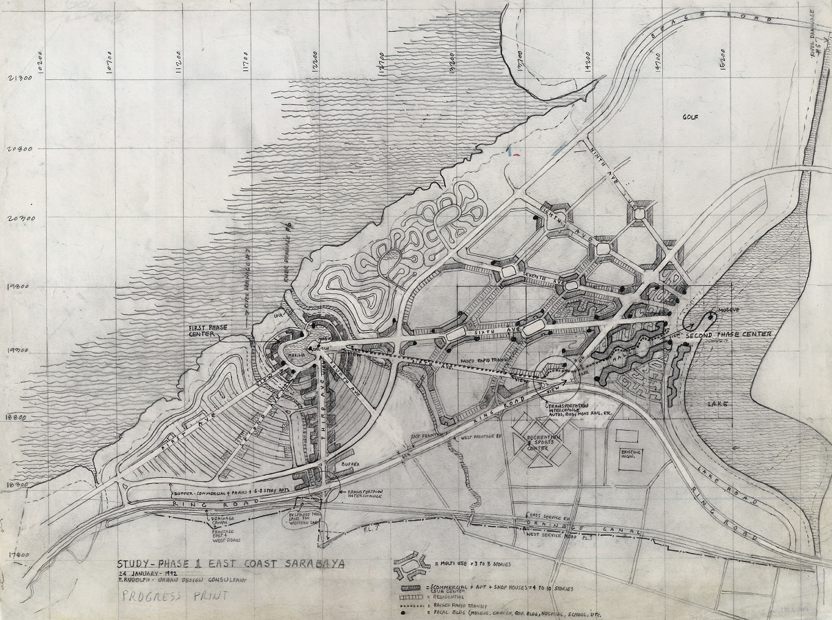 East Coast Surabaya, Surabaya, Indonesia. Master plan. Study, Phase 1.