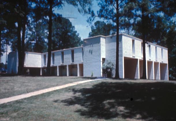 The Kappa Sigma Fraternity House at Auburn University, Auburn, AL. Paul Rudolph, architect.  Photograph: Paul Rudolph Heritage Foundation.