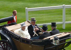 Queen Elizabeth at the Royal Ascot races.  Photo:  www.phrases.org.uk