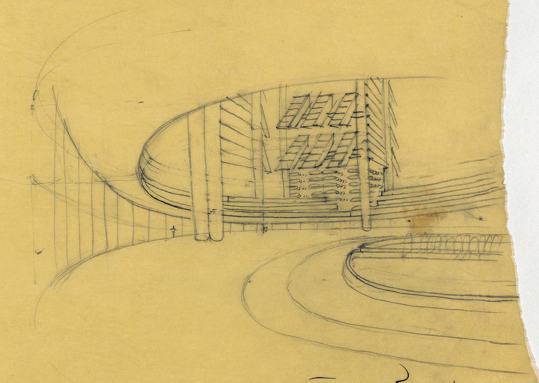 Lower Manhattan Expressway, New York City. Sketch of Transit Hub.