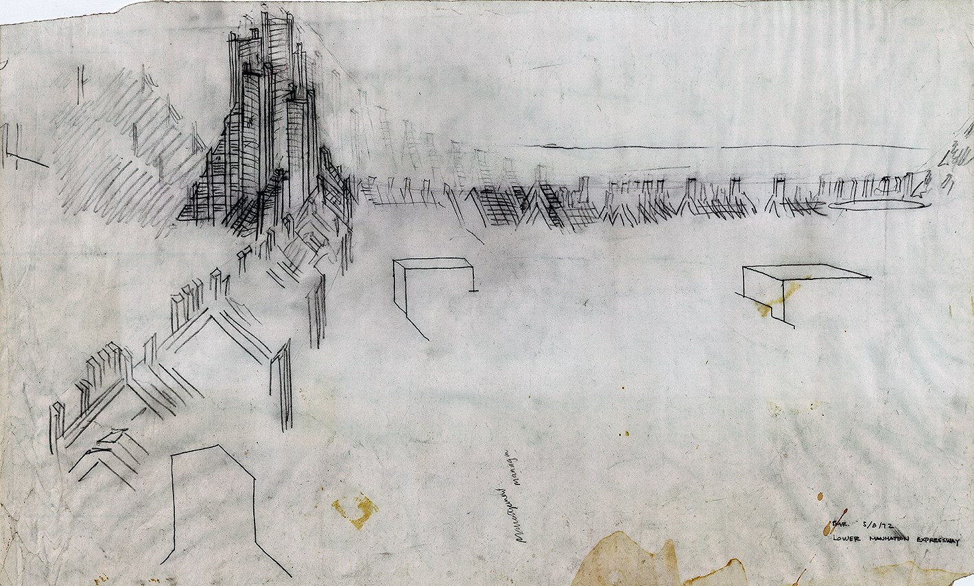 Lower Manhattan Expressway, New York City. Sketch dated May 8, 1972.