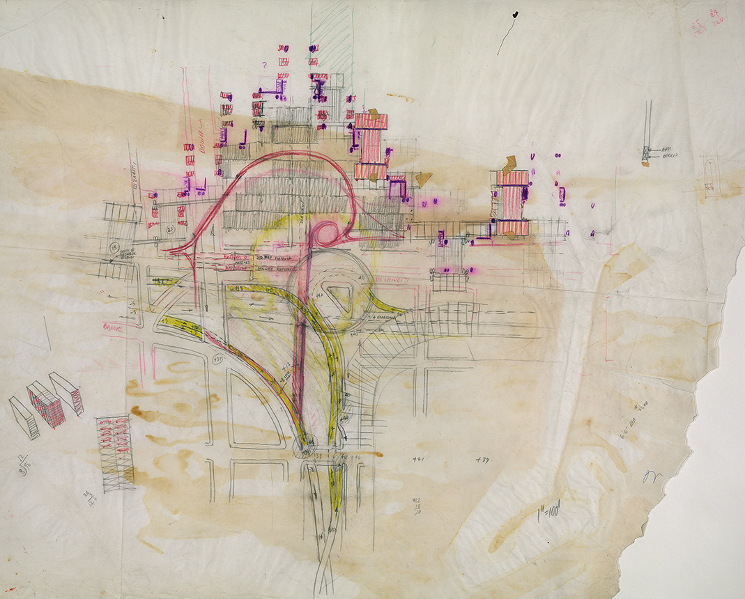 Lower Manhattan Expressway, New York City. Sketch.