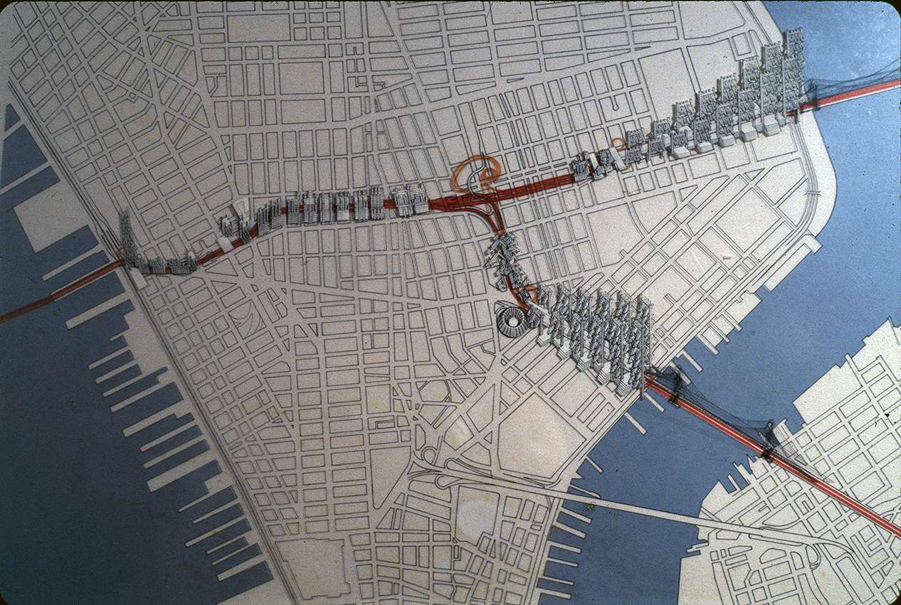 Lower Manhattan Expressway, New York City. Map Showing Proposed Development.