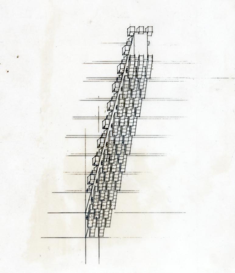 Lower Manhattan Expressway, New York City. Study. Sketch.