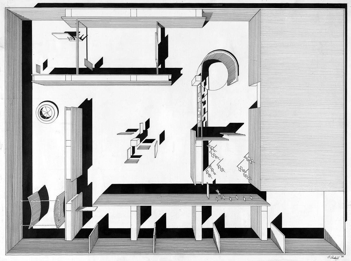 Family of Man exhibit, Museum of Modern Art, New York City. Rendered Floor Plan.