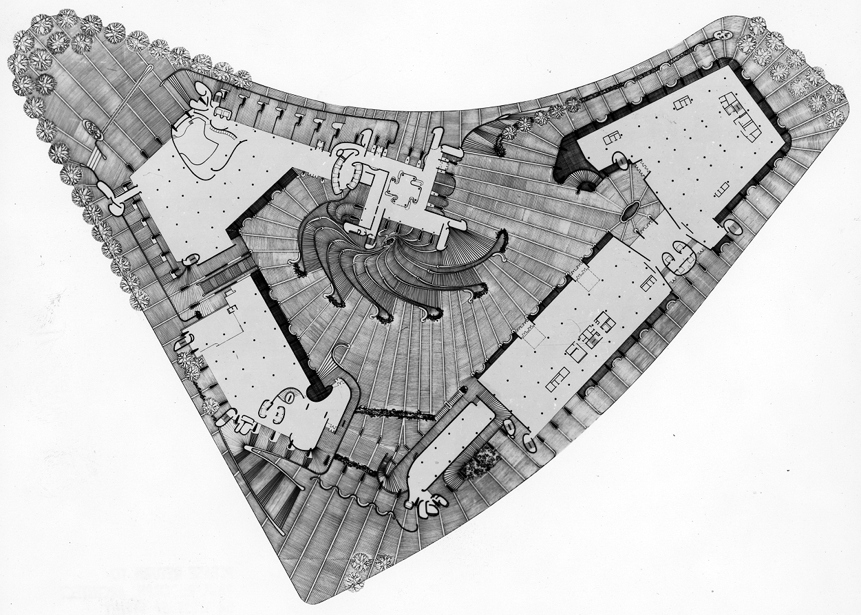 Boston Government Service Center, Boston, Massachusetts. Rendered Site Plan.