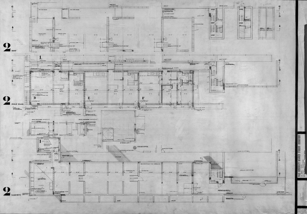 Married student housing, Yale University, New Haven, Connecticut. Scheme 1. Section 2 Floor Plan.