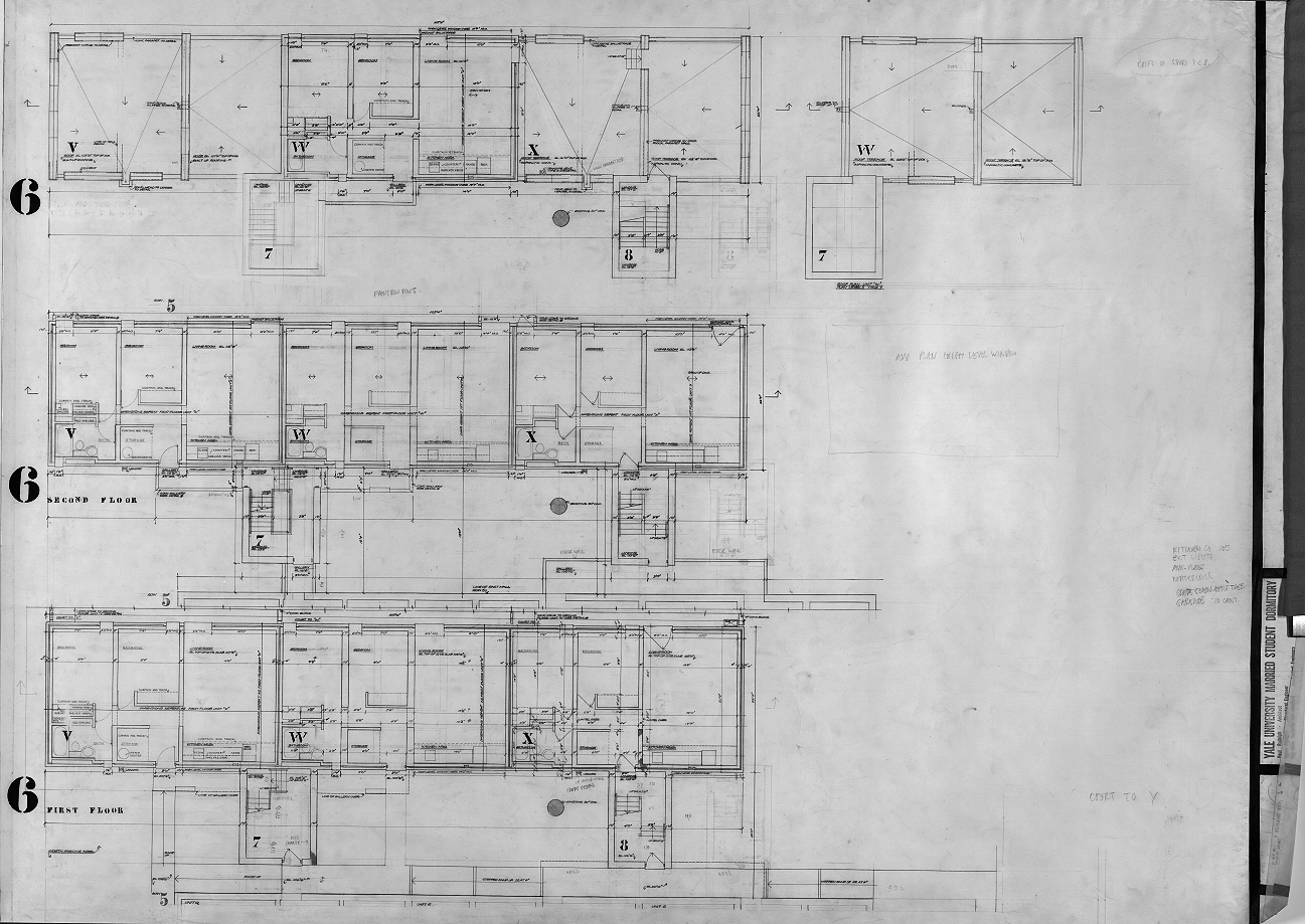 Married student housing, Yale University, New Haven, Connecticut. Scheme 1. Section 6 Floor Plans.