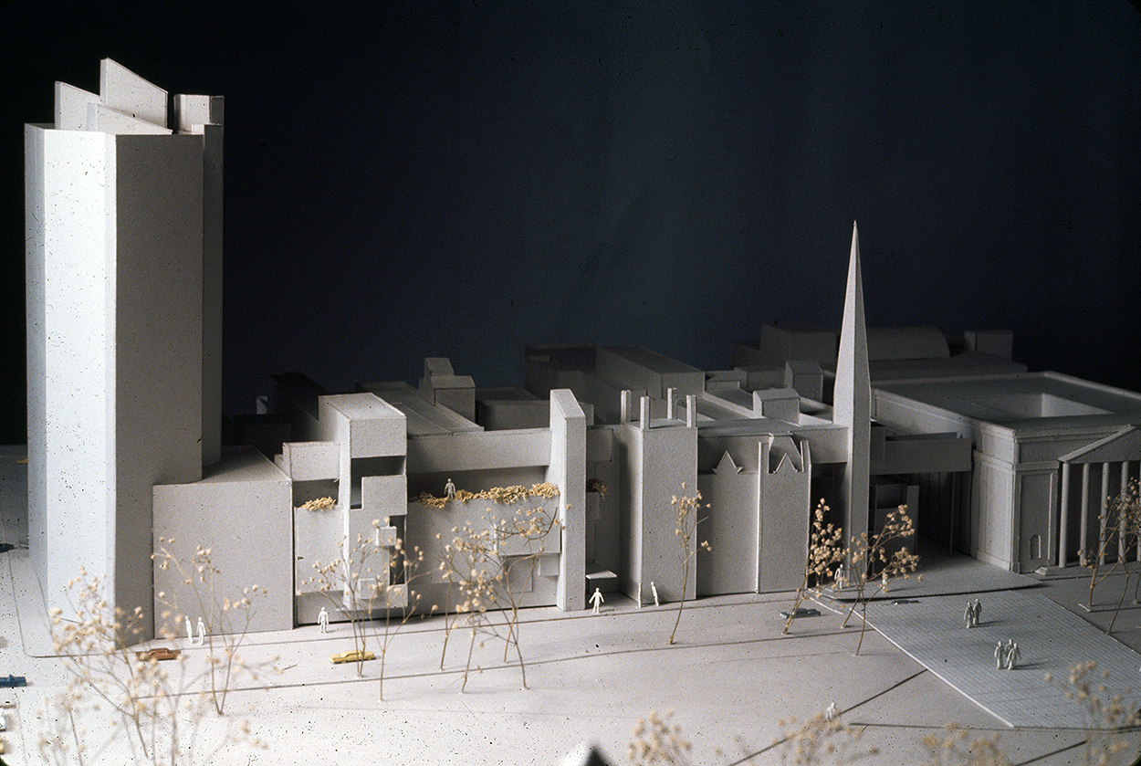 New Haven Government Center, New Haven, Connecticut. Photo of Presentation Model. Scheme E.