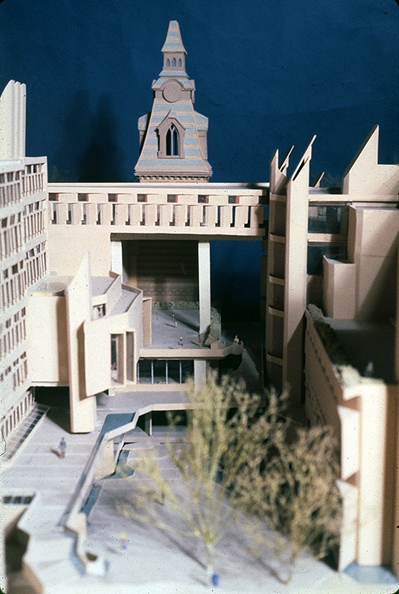 New Haven Government Center, New Haven, Connecticut. Photo of Presentation Model. Scheme A.