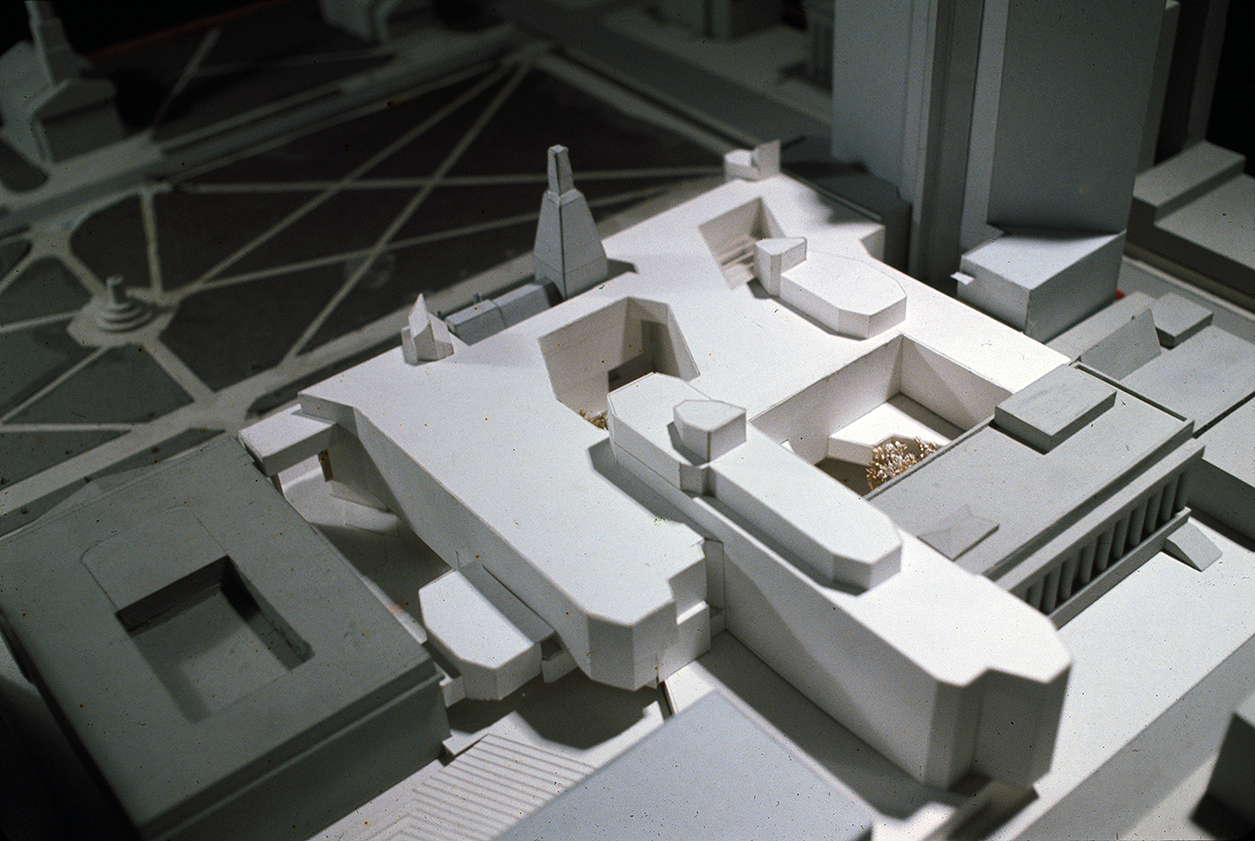 New Haven Government Center, New Haven, Connecticut. Photo of Presentation Model. Scheme C.