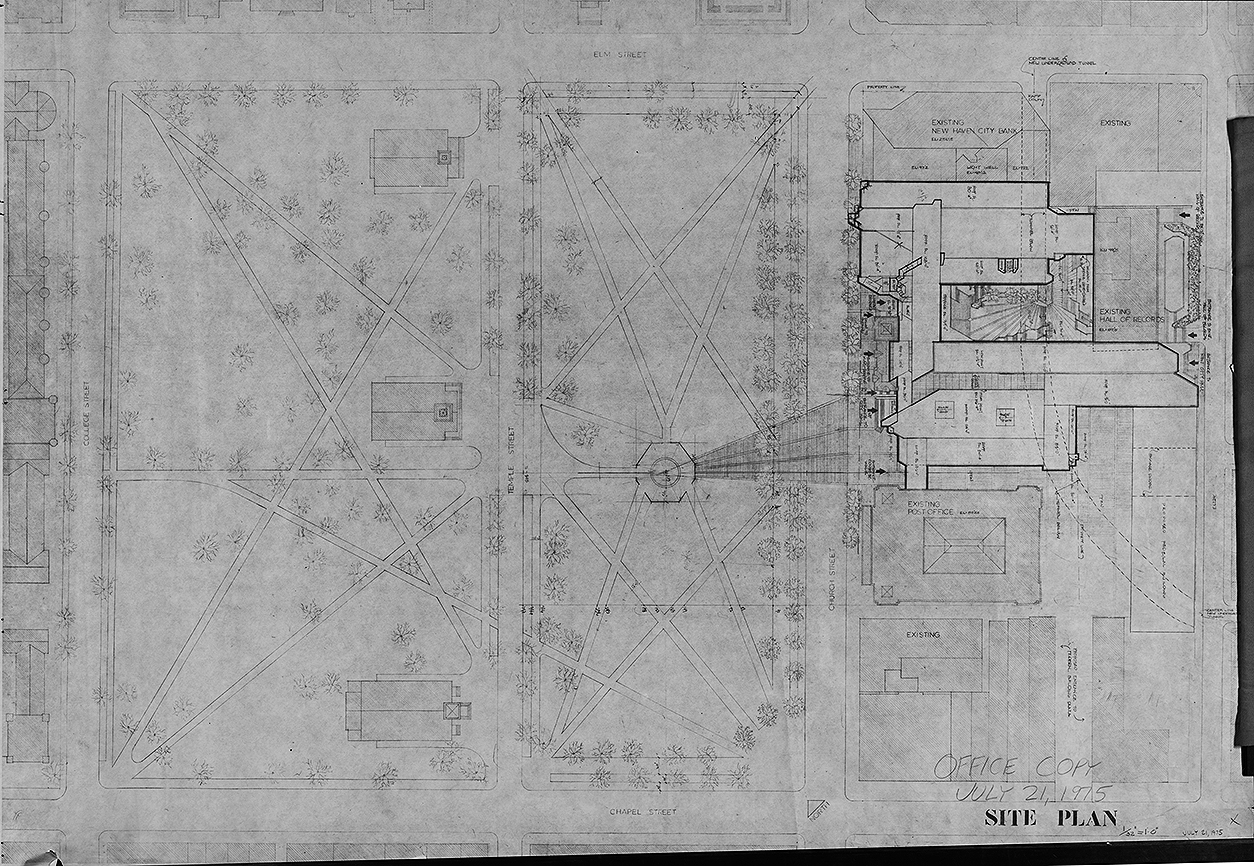 New Haven Government Center, New Haven, Connecticut. Site Plan.