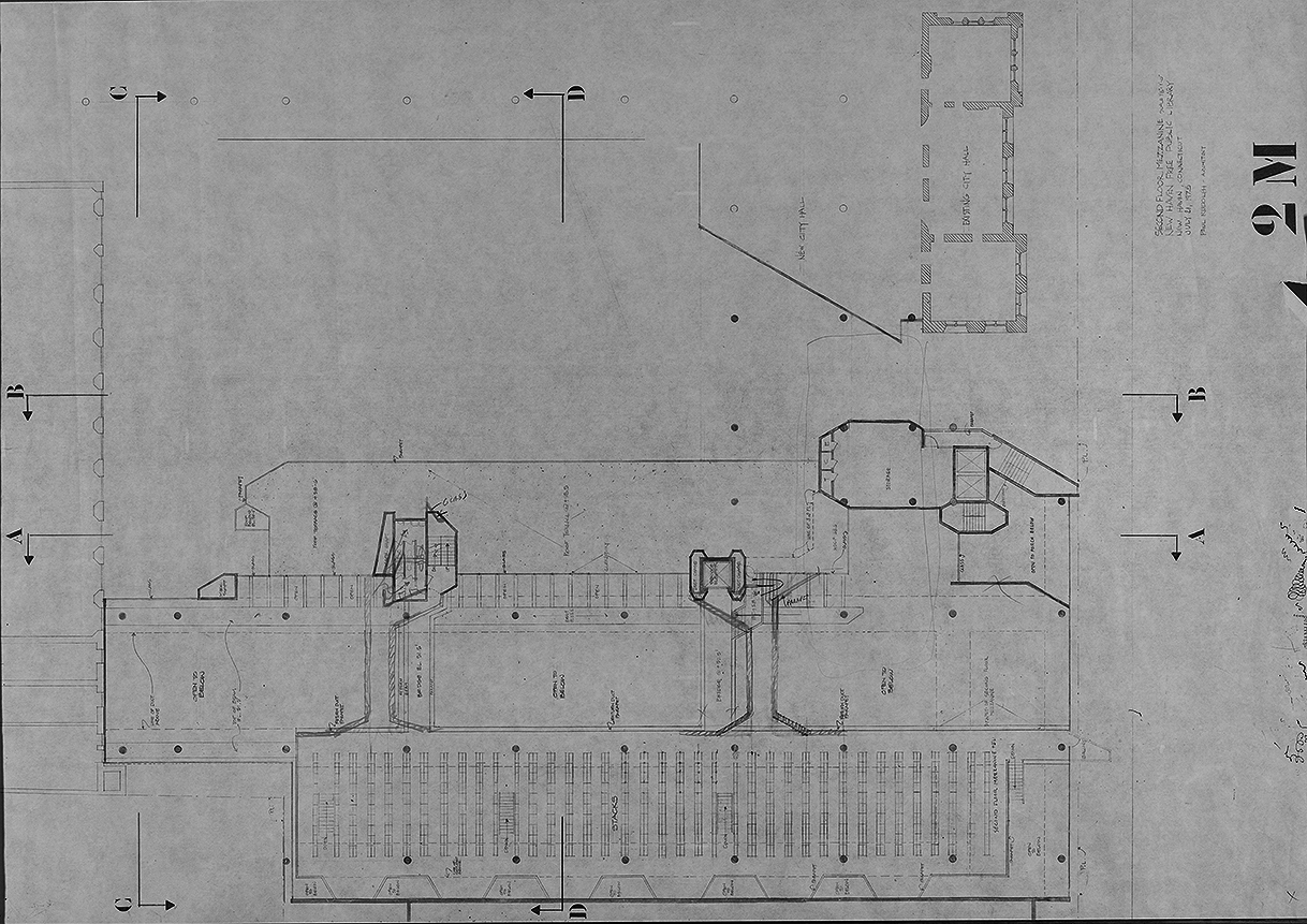 New Haven Government Center, New Haven, Connecticut. Second Floor Mezzanine Plan.