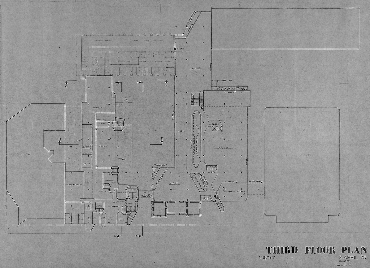 New Haven Government Center, New Haven, Connecticut. Third Floor Plan.
