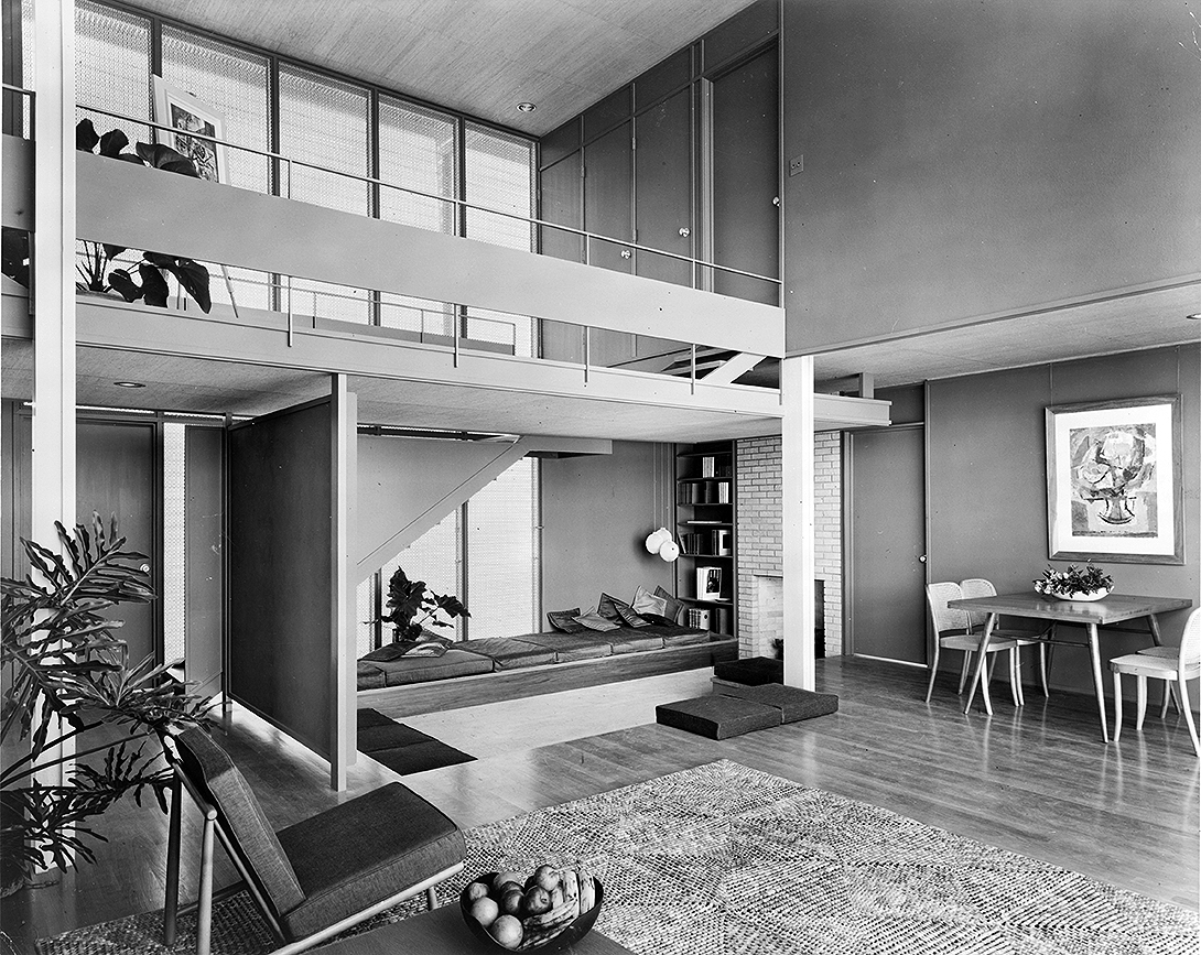 Umbrella House (Hiss residence), Lido Shores, Florida. Photo of Building Interior.