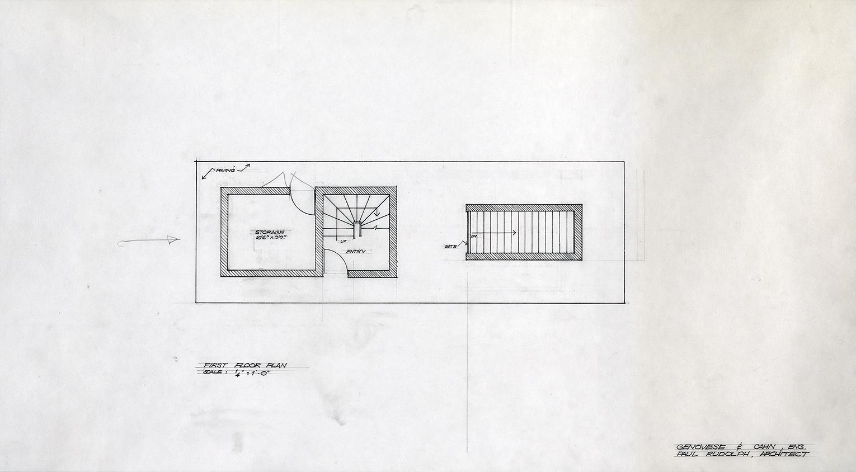 Manager's Office, Parking Garage,  New Haven, Connecticut. Scheme C. First Floor Plan.