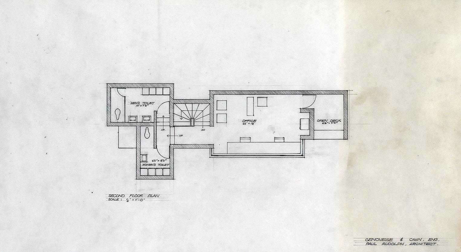 Manager's Office, Parking Garage,  New Haven, Connecticut. Scheme C. Second Floor Plan.