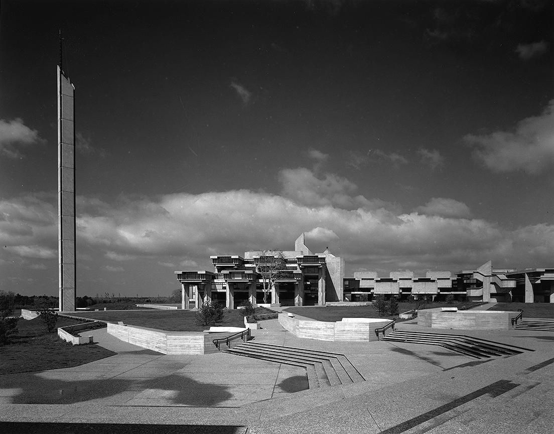 SMTI (Southeastern Massachusetts Technological Institute - now UMass Dartmouth). Photo of Building Exterior.
