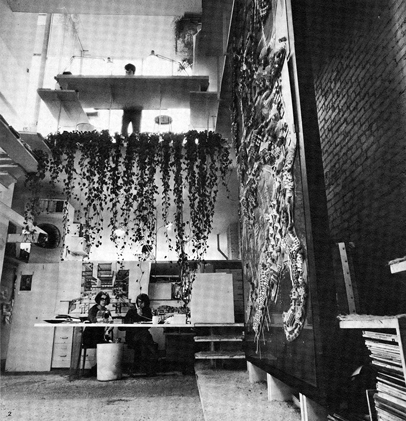 Paul Rudolph Architectural Office, New York City, New York. Photo of Office Interior.