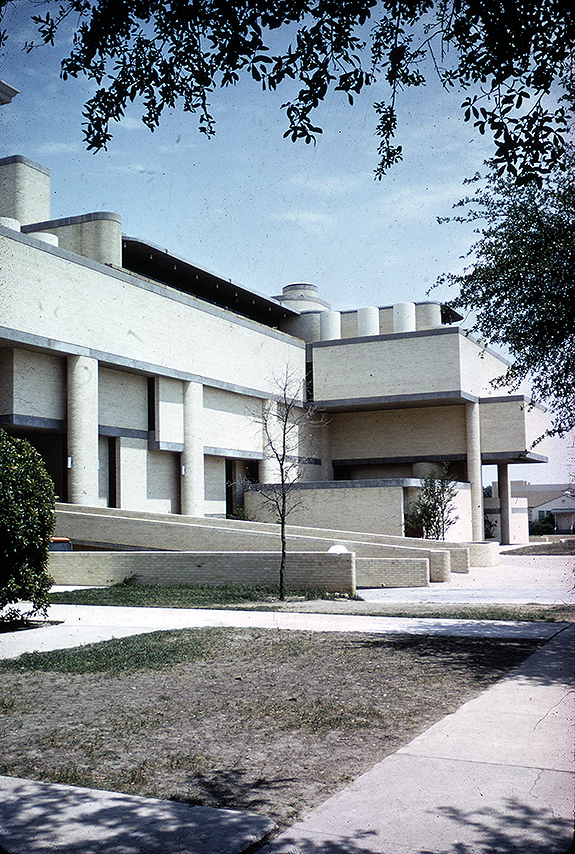 Sid W. Richardson Physical Sciences Building, Texas Christian University, Fort Worth, Texas. Photo of Building Exterior.